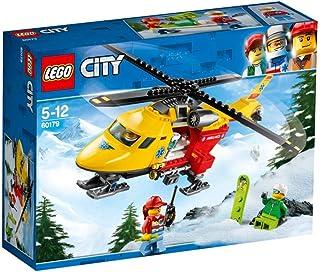 لعبة من ليغو 60179 من مجموعة سيتي، طائرة هليكوبتر للاسعاف، مجموعة بناء ولعب للاطفال