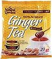 Natural Garden 100% All Natural Ginger Tea with Honey 20 Tea Sachets (Pack of 6)