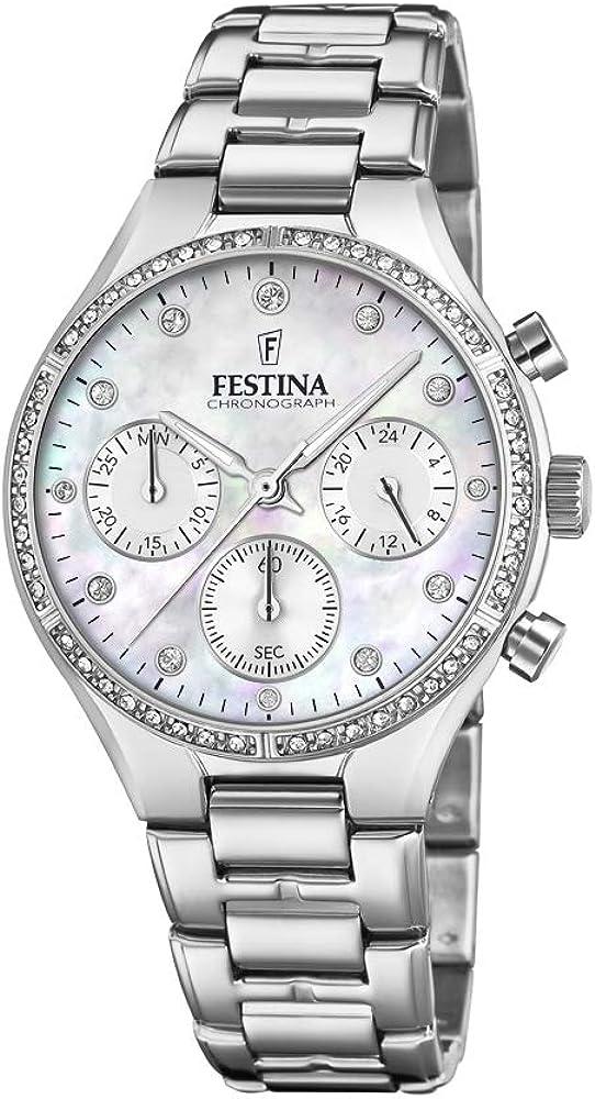 Festina orologio cronografo da donna  in acciaio inossidabile F20401/1