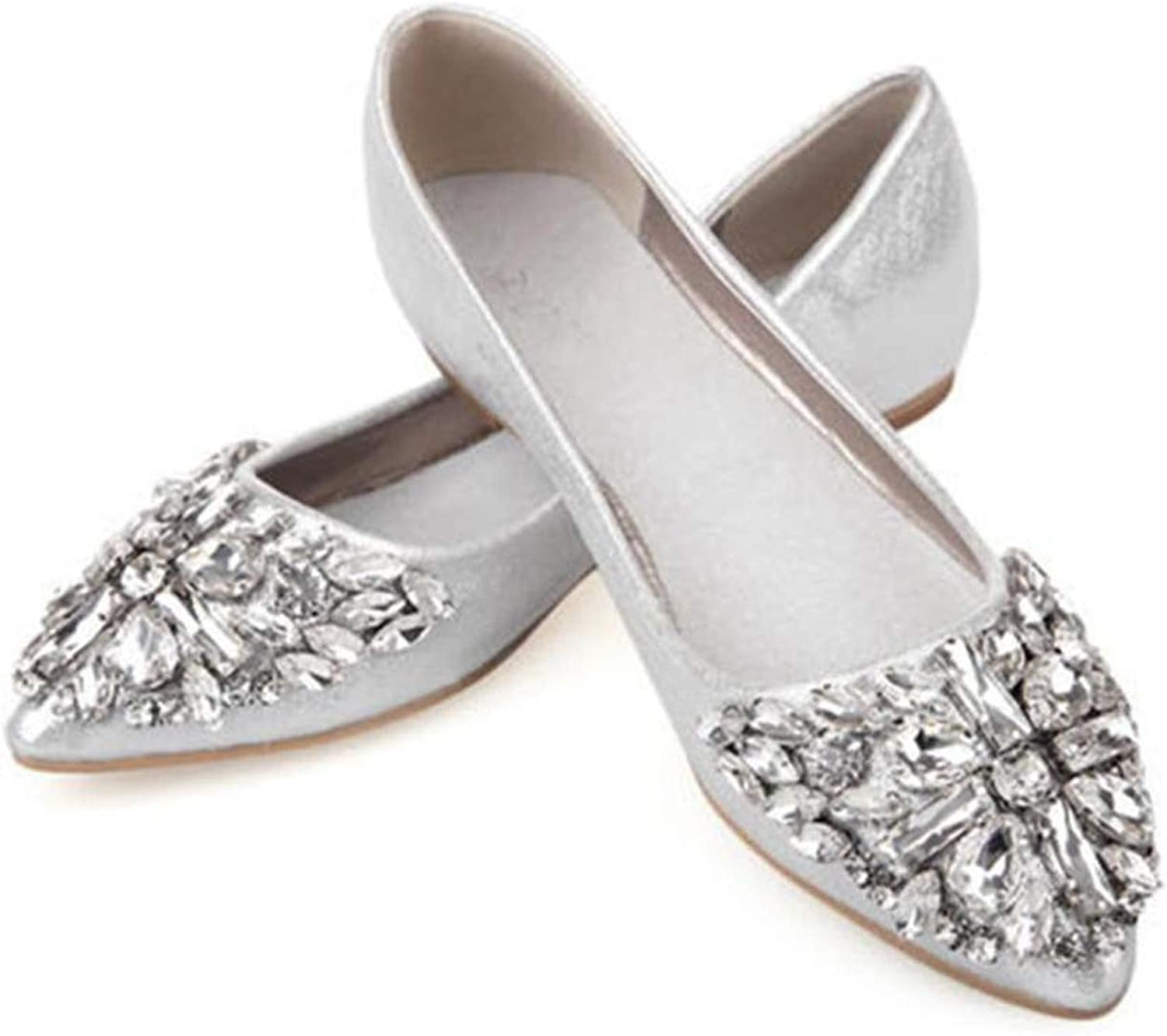 Fashion Women Ballet shoes Leisure Spring Pointy Ballerina Bling Rhinestone Flats shoes