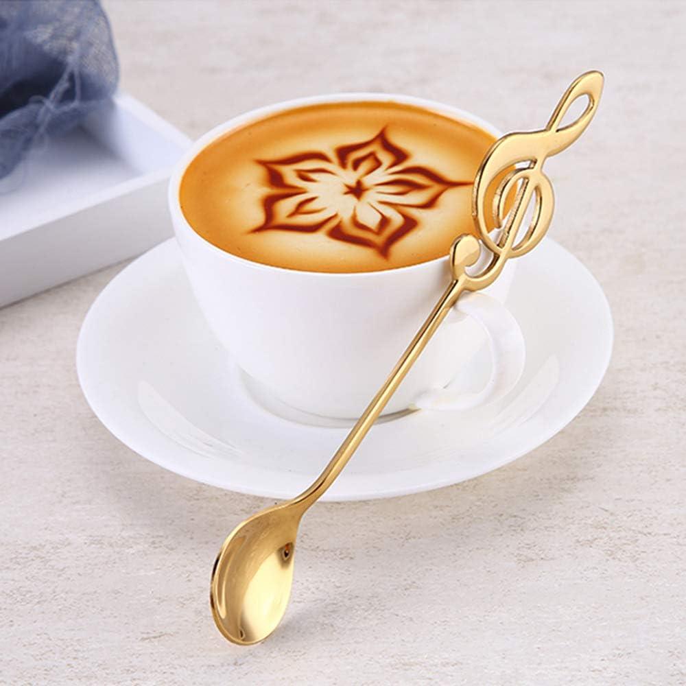 10Pack Stainless Steel Teaspoon Stirring Spoon Coffee Dessert Sundae Ice Cream Spoon Hard and Wearable Cute Kitchen Utensil Spoons Set Leaf Coffee Spoons Set 5Pcs Long /& 5Pcs Short