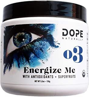 DOPE Naturally - Energize Me - Raw Organic Beet Mangosteen Powder for Beauty, Energy + Stamina Support, Paleo & Vegan, 150 Grams
