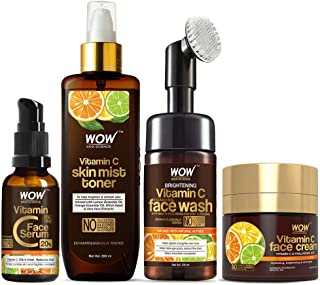 WOW Skin Science Ultimate Vitamin C Skin Care Kit - consists Vitamin C Face Wash brush, Mist Toner, Face Serum, Face Cream...