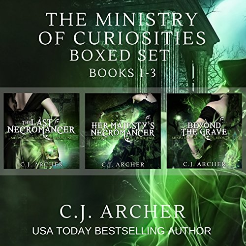 The Ministry of Curiosities Boxed Set     Books 1-3              By:                                                                                                                                 C.J. Archer                               Narrated by:                                                                                                                                 Shiromi Arserio                      Length: 26 hrs and 35 mins     405 ratings     Overall 4.4