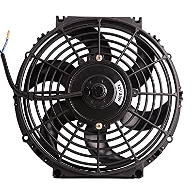 "7"" Electric Radiator Cooling Fan Assembly Kit 1730CFM Universal Slim Engine Fan Mounting Kit Reversible 12V 80W"