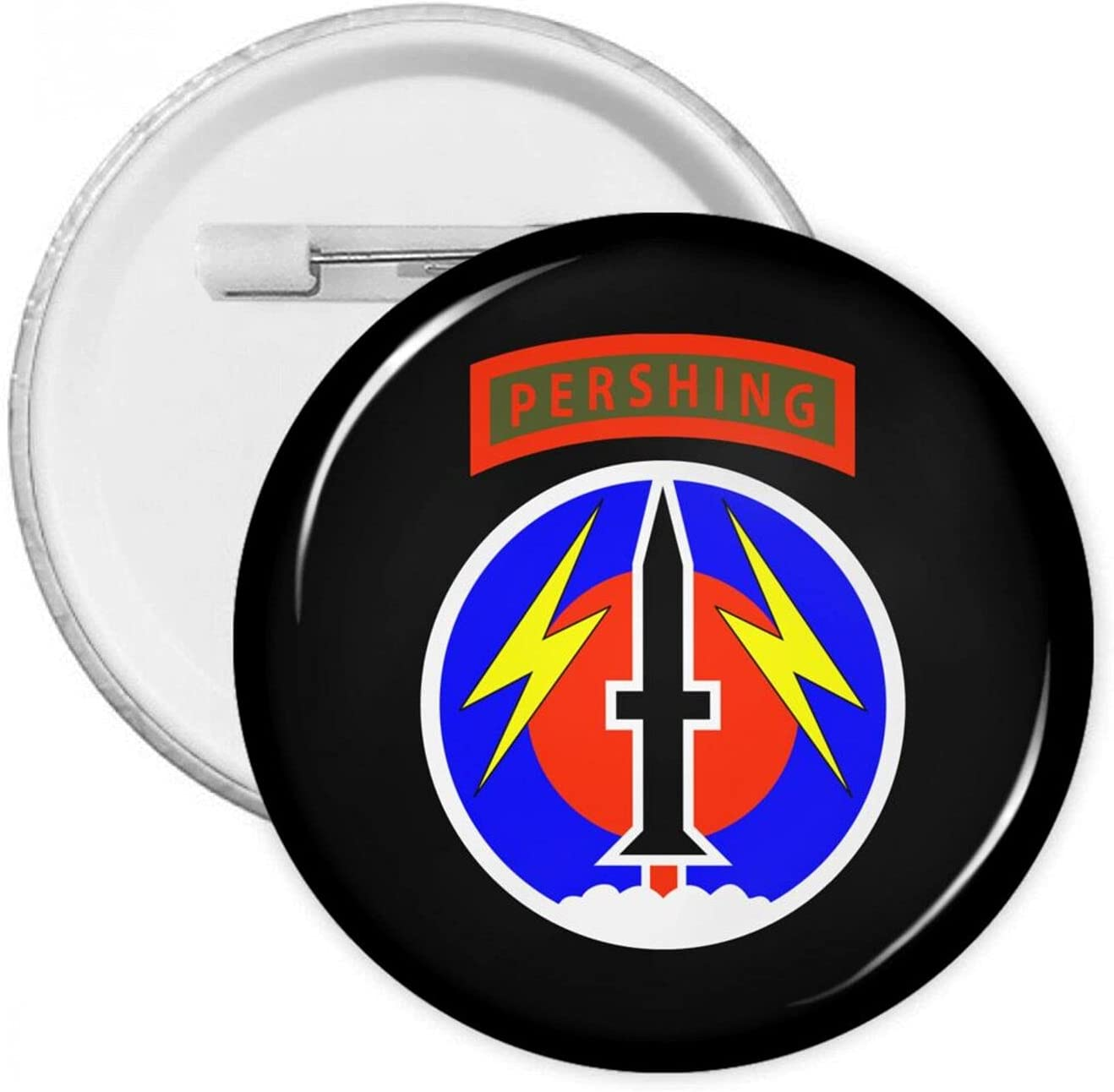 Us Army 56th Field Artillery Brigade 1.2/1.8/2.3 Inch Round Pins Brooches Button Medal Tinplate Large Pin Emblem Adult Children Pin Badges Decor for Backpacks Costume