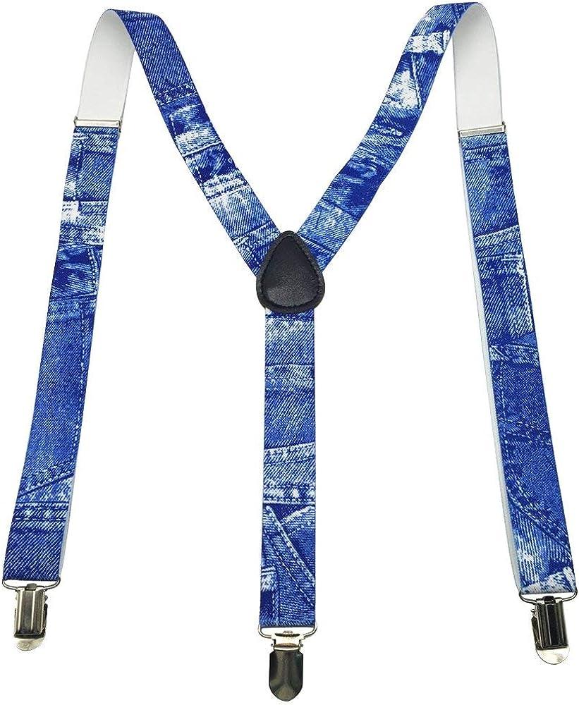 Blue Denim Suspenders Punk Gothic Emo Rocker Unisex