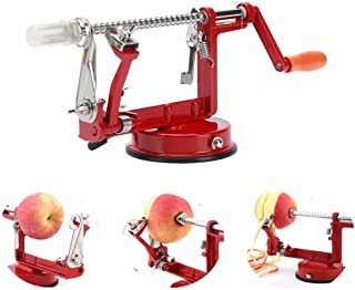 Apple Peeler Corer Stainless Steel Apple Corer Slicer Peeler Spiral Apple/Potato Peeler Slicer Corer Durable Heavy Duty Blade Multicolor Peelers