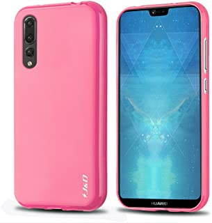 J&D Case Compatible for Huawei P20 Pro Case, [Drop Protection] [Slim Cushion] Shock Resistant Protective TPU Slim Case for Huawei P20 Pro Bumper Case - [NOT for Huawei P20 / Huawei P20 Lite] - Pink
