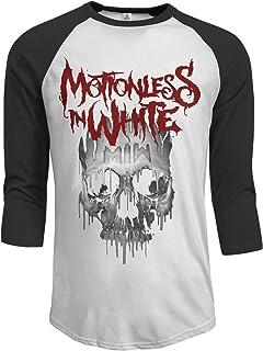 Motionless in White Men's 3/4 Sleeve Raglan Baseball T Shirt Black