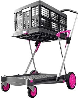 CLAX Transport-klapmobiel (origineel rechtstreeks van de fabrikant), inklapbaar (roze)