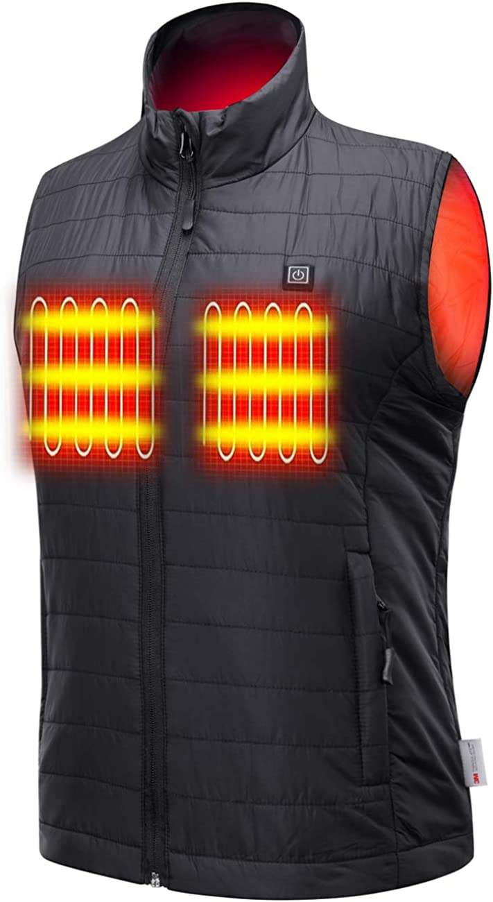 Sunbond Heated Vest with 在庫あり 割引も実施中 Battery Electric Pack Warm Outdoo