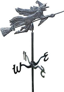 Design Toscano WH856 Windblown Wicked Witch Metal Weathervane: Garden Stake Black 66 Inch
