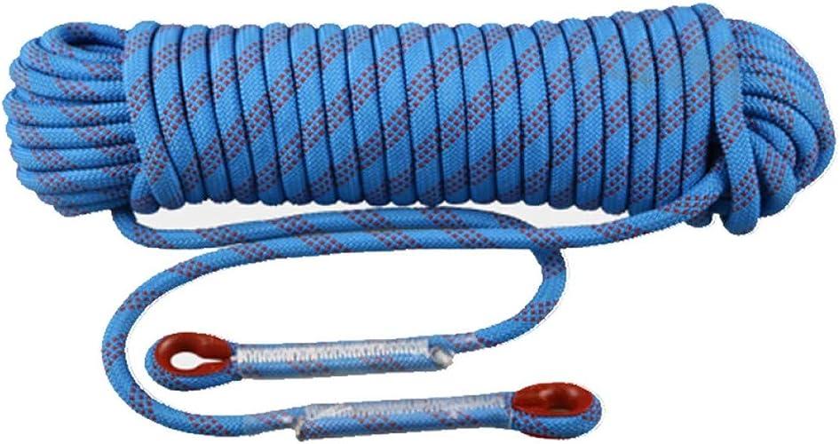 ZAIYI 12 14   16MM Corde D'aventure Antidérapante De Sécurité De Randonnée en Montagne d'alpinisme, Bleu,bleu-14mm20m