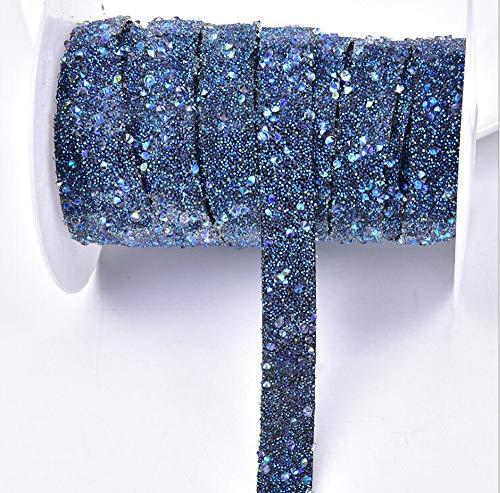 Hava Kolari Strass Band Funkeln Strasssteinen funkelnde Kristall Diamond Roll Kleider Gürtel Rolle für Abschlussballkleider (Dunkelblau)