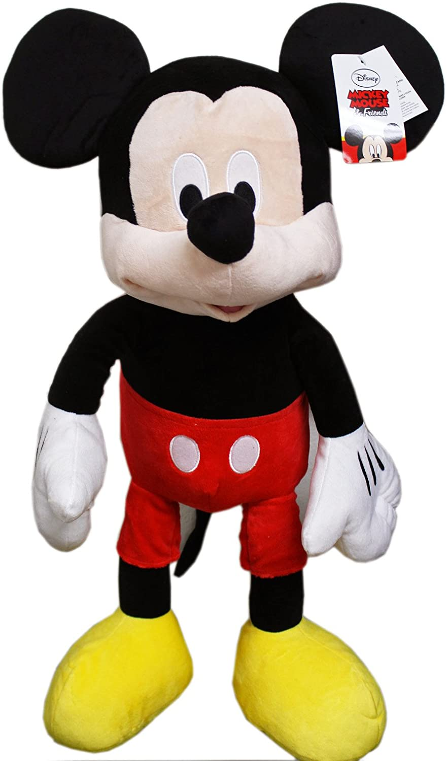 Disney's Mickey Mouse Classic Clothes Jumbo Plush Toy w Secret Pouch (23in)
