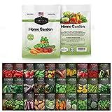 Survival Garden Seeds Home Garden Collection II Vegetable Seed Vault -...