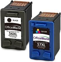 OfficeWorld 56XL 57XL Remanufacturado HP 56 57 Cartuchos de tinta