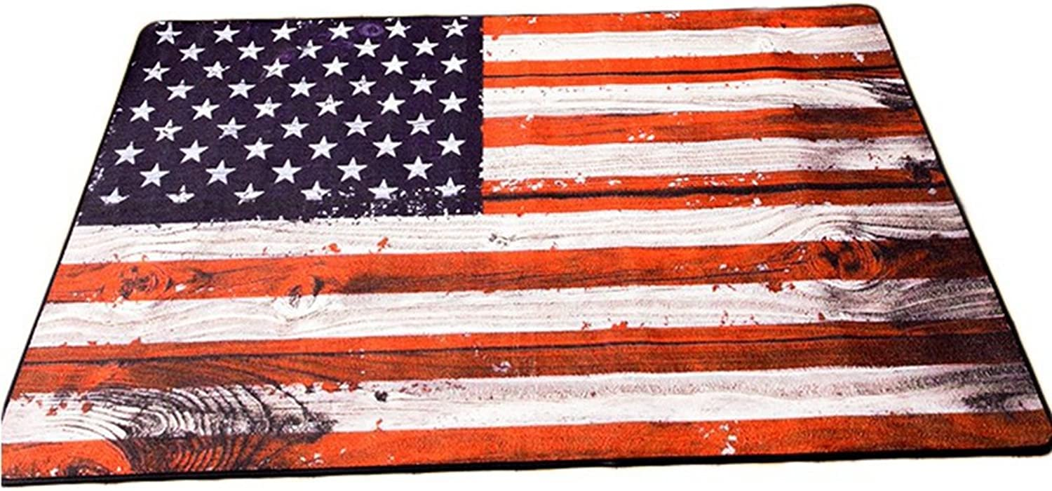 Stars and Stripes Mats Fashion Trend Western National Flag Living Room Home Decoration Sofa Mats