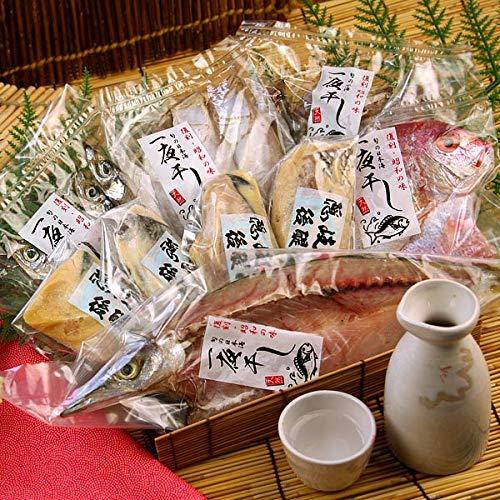 風味絶佳.山陰 日本海の特撰魚介詰合せ(月) 干物 粕漬け 8種類以上 風呂敷包み