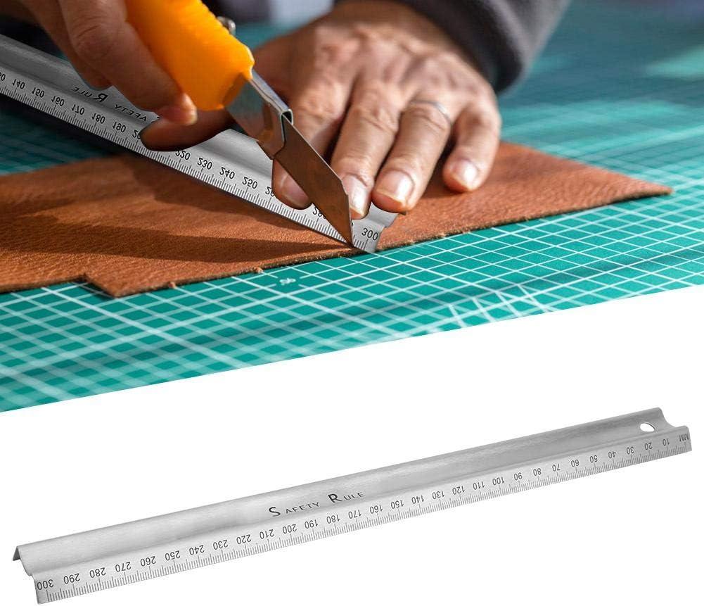Righello da Taglio M-Type Disegno Tecnico Righello Strumento di Misura Acciaio Inossidabile Accessorio Hardware in Scala Trasparente Righello per Lavorazione del Legno M-Type 300mm