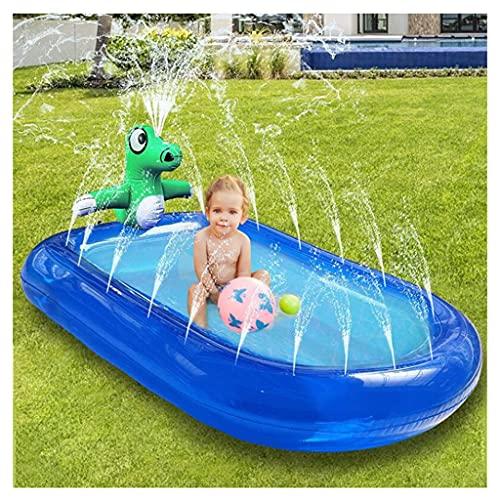 LVLUOKJ Piscina Infantil Inflable de PVC ecológica de 67 Pulgadas, Alfombrilla de Juego para niños y niñas con rociador de Agua al Aire Libre