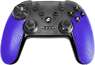 emote Wireless Pro Controller for Nintendo Switch Gyro Axis Motion Controls Vibration Sense Gamepad Compatible with PlayStation 3 Windows PC Android Game Controllers (Blue)