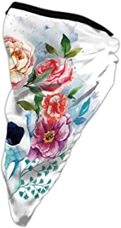 ,Flowers 20 inch x 9.84 inch(LxW),Face Mouth Cover, anas, Scarf, Neck mer, Wrap