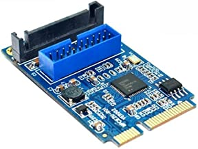 Adealink Motherboard Mini PCI Express to Dual USB 3.0 19-pin Expansion Card Adapter PCI-E to 2 ports USB 3.0 SATA Adapter