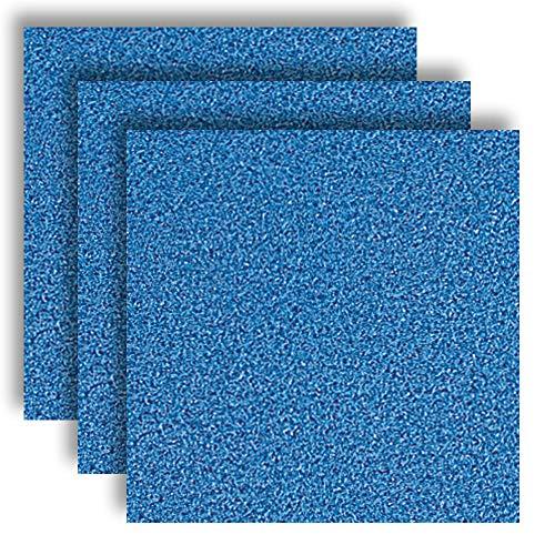 MarpaJansen 566.595-34 Vivelle - Velour-ähnliches Papier - ungummiert - (35 x 50 cm, 10 Bogen, 130 g/m²) - capriblau, Mehrfarbig, One Size