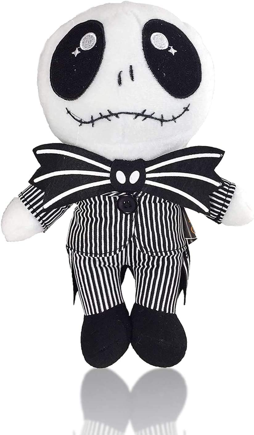 8 inch Super Cute Jack Skellington Plush Doll Toy for Home Sofa Decor VWMYQ Before Christmas Plush Toy Sit Posture