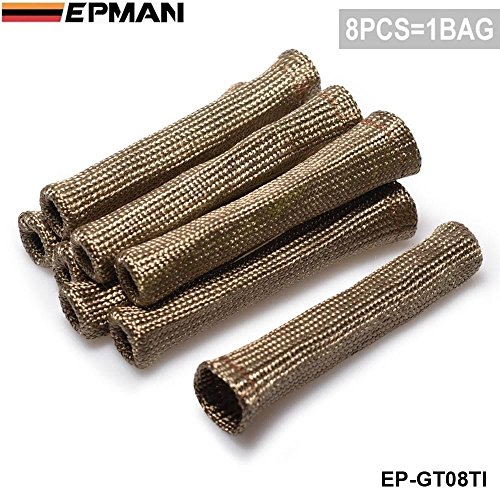 EPMAN Vulcan Lava Protector Sleeve Spark Plug Wire Boots 8cyl (Titanium)