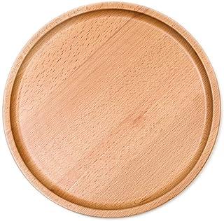 k-uning 木製トレー 丸形 木の食器 お盆 シンプルナチュラルキッチン用品 うちカフェ ラウンドトレ (大)