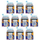 50 SchmetzGold EmbroiderySewing Machine Needles - Size75/11 - Box of 10 Cards