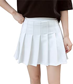 Women Girls Short High Waist Pleated Skater Tennis School...