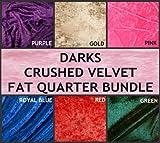 FAT QUARTER Patchworkstoffpaket 6 x, dunkle Farben, Schirm