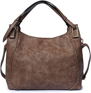 Fine Bag/Soft Women's Pu Leather Handbag Casual Shoulder Bag Crossbody Bag Multi-Pocket Capacity (Color : Mud, Size : One Size)