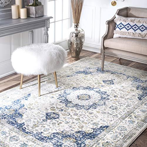 nuLOOM Verona Vintage Persian Area Rug, 8' x 10', Blue