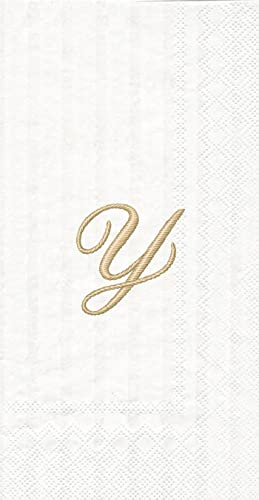 tienda de venta en línea Ideal Home Range 20-Count 3-Ply Paper Paper Paper Stripes Again Monogram Cocktail Napkins  mejor servicio