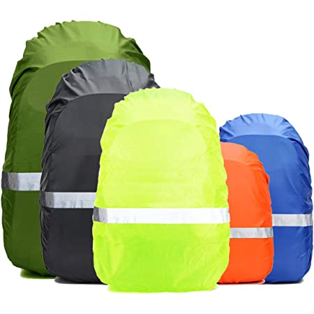 40-65L Waterproof Ultralight Bag Cover with Storage Pouch for Hiking Camping Traveling Cycling INHEMI Backpack Rain Cover with Reflective Stripe and Anti-Slip Buckle Strap