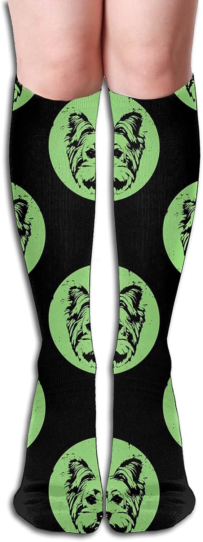 Portrait Of 5% OFF Yorkshire Boston Mall Terrier Dog Women Athletic Men for Socks