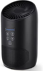 Air Purifier BS-03, True HEPA Air Purifiers for Home Bedroom, Air Cleaner for Smoke with Aromatherapy Design, Quiet Clean 99.9% Air Pollutants