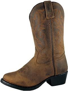 Smoky Mountain Kids' Denver Western Leather Boot, Oil Distress Brown - 11 Little Kid