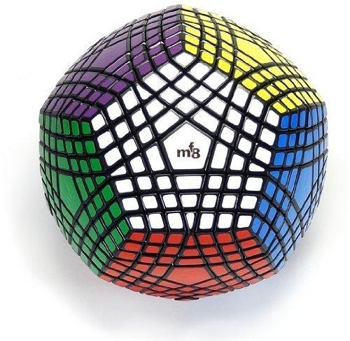 EasyGame Magic Cube 7x7 Gerade Megaminx Geschwindigkeits-Würfel-Puzzle Schwarz Dodekaeder hat Aufkleber beendet Worden