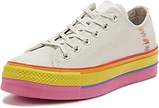 Converse Chuck Taylor All Star Lift Rainbow Womens White Ox Trainers