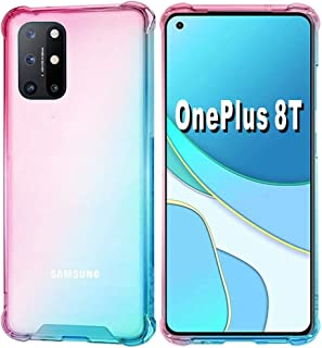 Oneplus 8T Case [Not Compatible with Oneplus 8],Folmeikat Clear Transparent Reinforced Corners TPU Shock-Absorption Flexib...