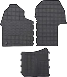 PETEX Rubber mats suitable for Sprinter from 06/2018 driver's cab, black, 3 pieces