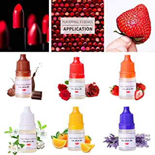 BST&BAO 6 Botellas de 5 ml de Esencia aromatizante, Gotas de Brillo de Labios para aromaterapia y lápiz Labial, Gotas de S...
