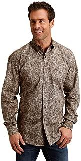Western Shirt Mens Paisley L/S Brown 11-001-0526-0650 BR