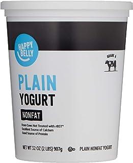 Amazon Brand - Happy Belly Traditional Non-Fat Plain Yogurt, 32 Ounce
